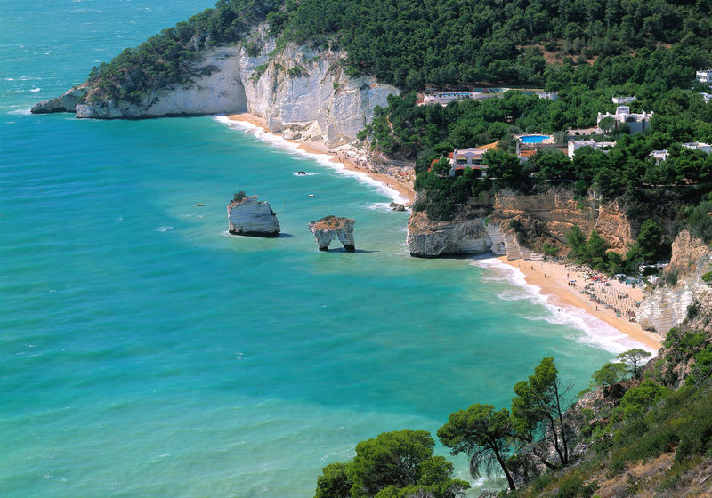 Bay of the Zagare, Gargano, Provinz Foggia, Apulien, Italien